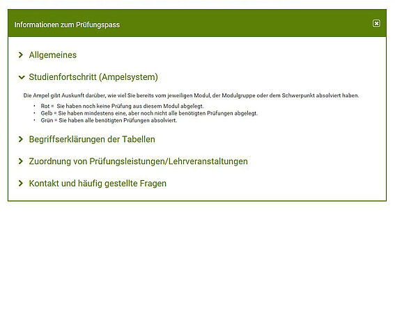 Screenshot aus u:space: Funktionsweise des Ampelsystems